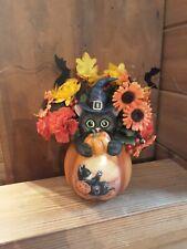 The Bradford Exchange Kayomi Harai Art Scaredy Cat In A Pumpkin Centerpiece