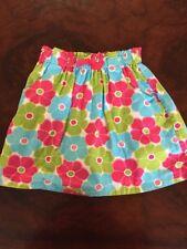 Gymboree Pink/aqua/green Floral Skirt 8