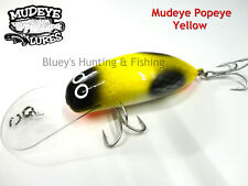 Timber Mudeye Lures Cod, Barra,Mangrove Jack Popeye lure ;Yellow 180mm