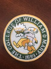 "The College Of William & Mary Vintage  Embroidered Iron On Patch  3"" x 3"""