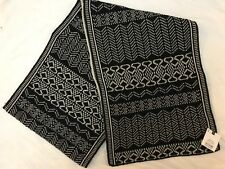 BNWT MENS TOPMAN TOPSHOP BLACK AND WHITE PATTERN SCARF ONE SIZE
