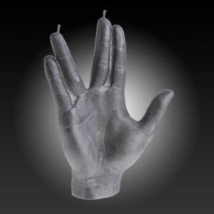 SPCK Hand Candle  - Vulcan, Mr Spock, Star Trek, Trekkie, real wax, gesture, gre