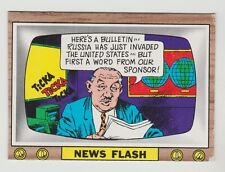 1969 TOPPS CRAZY TV NEWS FLASH CARD #4 FINISHED TEST ISSUE EXCELLENT CONDITION