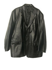 Mens Size XL Black Genuine LEATHER Blazer Jacket Coat