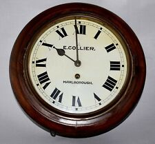 GERMAN FUSEE WALL CLOCK GPO STYLE E.COLLIER MARLBOROUGH C1890