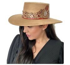 New listing Yaneth Alatorre. Campestre Red Feather Hat. ladies.
