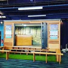 Mobile cedar cladded retail space available to hire or buy.