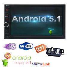 "Android 5.1 WIFI 7"" Double 2DIN Autoradio Stereo GPS SAT Nav Bluetooth+Camera"
