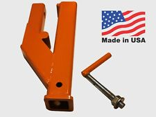 """USA Clamp On Trailer Hitch 2""""Ball Mount Receiver for Deere Bobcat Tractor Bucket"""