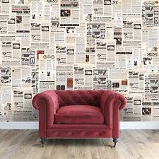 Vintage Newspaper Wall Sticker Decal Art Retro Classic DIY Decor Living Room