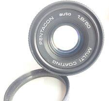 PENTACON AUTO 1.8/50 MC M42 SCREW MOUNT LENS + filter
