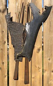 "Vintage Mix Metal Abstract Wall Art Sculpture 34"" X 20"""