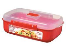 Abeba SI1114 Boîte à Micro-Ondes 1,25l en Rouge, Plastique, 45x35x25 cm Rouge