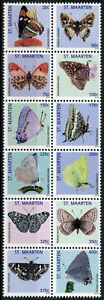 St Maarten Butterflies Stamps 2013 MNH Brimstone Butterfly Insects 12v Block