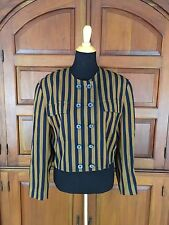 Vintage MONDI Double Breasted Crop Striped Nautical Jacket Blazer So EUR 42 US 8