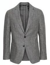 New Banana Republic Slim Linen Suit Jacket Blazer 50 L Long XXL Distressed Gray