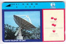 ASIE  TELECARTE / PHONECARD .. INDONESIE 100U TAMURA TELKOM ANTENNE SATELLITE EM