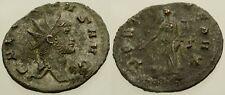 044. Roman Bronze Coin. GALLIENUS, Antoninianus. Rome. Fortuna. aVF