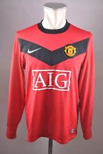 Manchester United Trikot 2009-2010 Gr. S Nike rot Home Jersey AIG Longsleeve