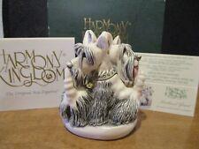 Harmony Kingdom Scotland Yard V1 Scottish Terriers Uk Made Box Figurine Sgn