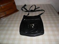 Oasis Black Leather Cross Body Bag