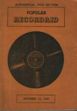 Popular Recordaid October 11 1947 Vinyl Catalog  071219DBE