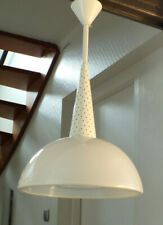 SUSPENSION LAMPE HOLOPHANE VERRE TÔLE PERFORé DESIGN  USINE 50 60 Mategot