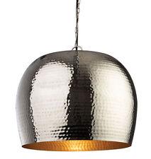 Firstlight Large Assam Pendant in Nickel with Matt Brass inside - Ceiling Light