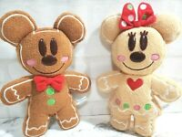 NEW TOKYO Disney Resort Gingerbread Mickey /& Minnie Set2 Plush Doll Ginger 2010