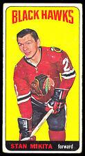 1964 65 TOPPS TALL BOYS HOCKEY #31 STAN MIKITA VG-EX CHICAGO BLACK HAWKS CARD