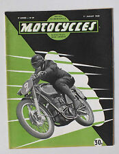ANCIENNE REVUE MOTOCYCLES N° 39 - 1 JUILLET 1950 *