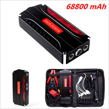 High Power 68800mAh Car Jump Starter Booster Battery Power Bank 4USB Charger 12V