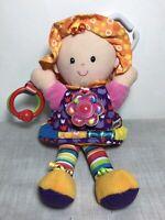 "LAMAZE - Baby Toys Lamaze First Doll Sensory Girl - Pram Cot Rattle 12"" High"
