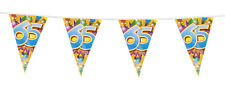 Age 65 / 65th Birthday Pennant Flag Bunting Party Decoration - 20ft Long - New