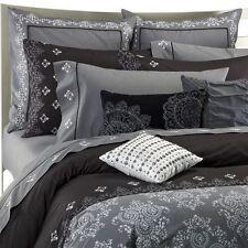 New Kas Australia MARISSA Embroidered Euro Pillow Sham 26 x 26 Gray