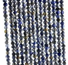 "3MM  BERMUDAN BLUE IOLITE GEMSTONE  GRADE B BLUE ROUND LOOSE BEADS 14"""