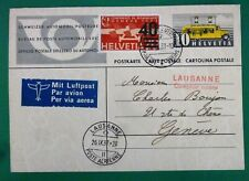 Switzerland CH 1937 Nice Philatelic Postcard with Two Stamps - Mobile Post Off.