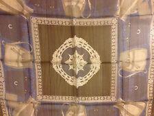 Vintage Authentic Lancel Paris Square 100% Scarf with Handbags Pattern