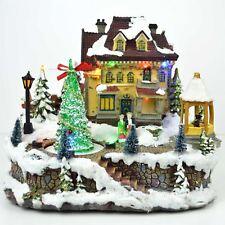 Big Christmas LED Musical Light Up Sculpture Nativity Set Xmas Home Decorations