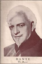"""Dante """"The Master""""-A 1940's Program Devoted to the World Famous Magician"""