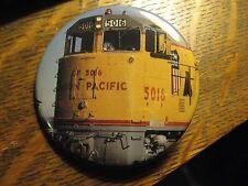 Union Pacific Railroad Yellow Train Engine Locomotive Pocket Lipstick Mirror