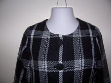 WOMENS CROP WOOL BLEND JACKET PLAID BLACK/GREY COAT MERONA SIZE SMALL