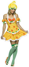 Lemon Meringue Strawberry Shortcake Retro Dress Up Halloween Adult Costume