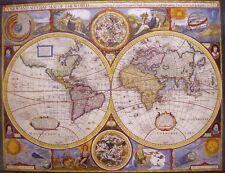 Jigsaw puzzle Renaissance Art Antique Map of the World 1000 piece NEW made USA