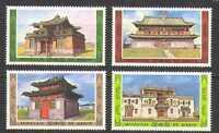 Mongolia 1986 Ancient Temples/Buildings 4v set (n21736)