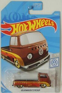 2019 Hot Wheels Volkswagen T2 Pickup Metallic Orange 96/250 Volkswagen #3 FYD71