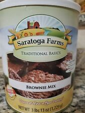 Saratoga Farms Brownie Mix (6) #10 Cans Emergency Food Storage!! Augason Farms