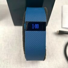 Fitbit Charge HR Fitness Activity Tracker Smart Watch Blue Band Heart Rate Small