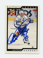 MATTHEW BARNABY SABRES AUTOGRAPH AUTO 96-97 SCORE #188 *8379