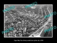 OLD LARGE HISTORIC PHOTO OF CAPE MAY NEW JERSEY AERIAL VIEW OF THE CITY c1930 1